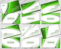 绿色名片设计PSD素材