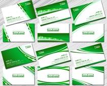 环保绿色名片设计PSD素材