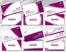紫色名片卡片设计PSD素材