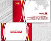 大气红色名片设计PSD素材