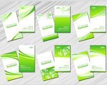 清爽浅绿色名片卡片设计PSD素材