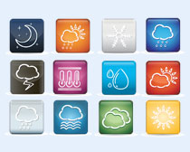 天氣預報文件夾PNG圖標