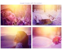 给照片添加绚丽光效PS动作素材