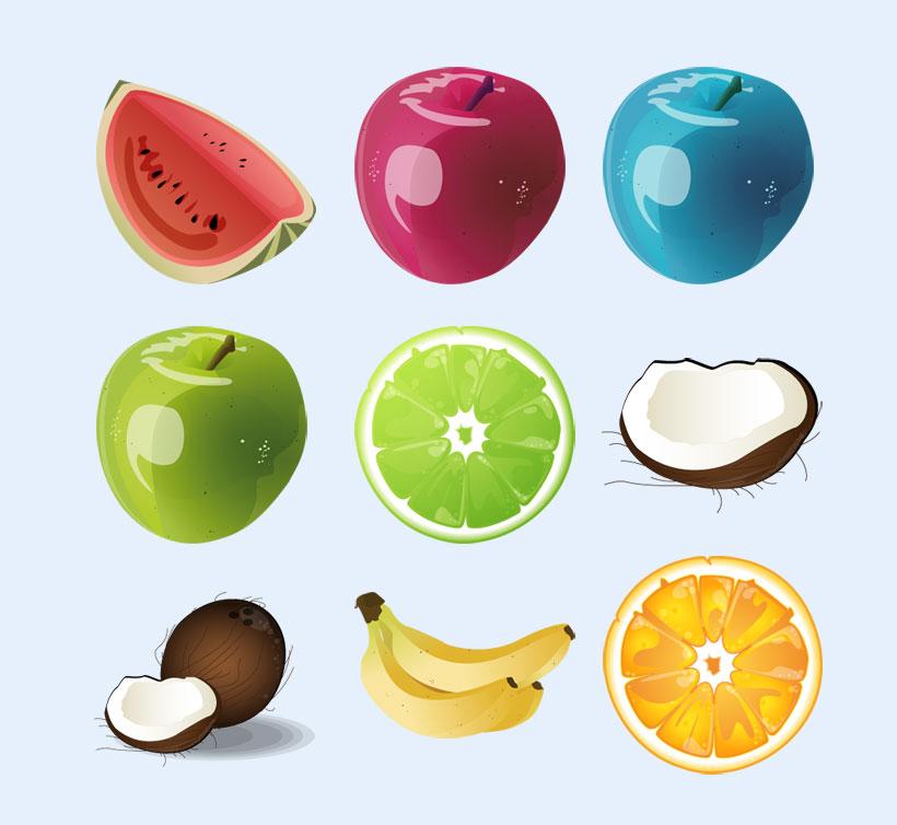 卡通画里的水果png图标