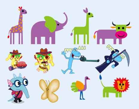 爱图首页 图标素材 卡通图标 长颈鹿 大象 怪物 博士 动物园 卡通