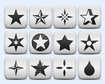 方形星星圖標顯示PNG圖標