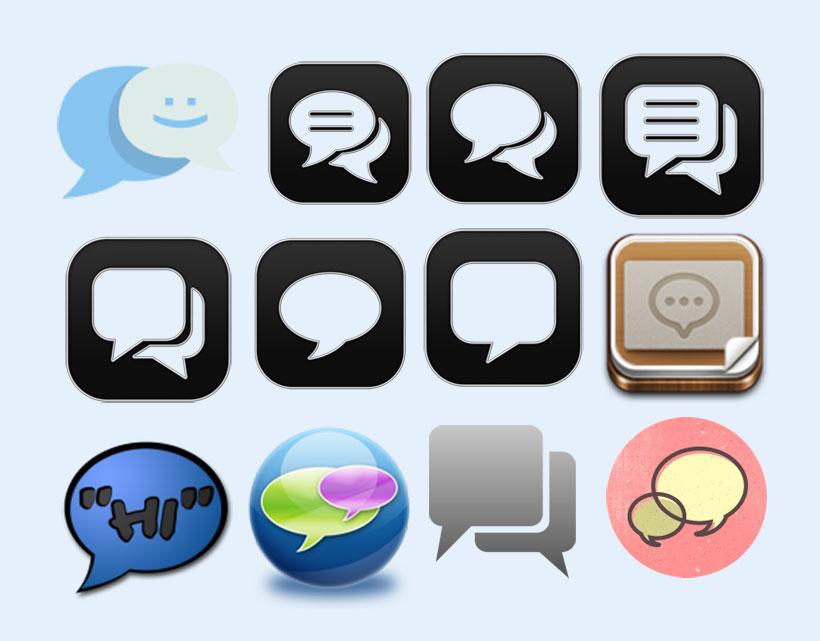 微信对话框png图标