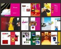 婚庆宣传画册设计矢量素材