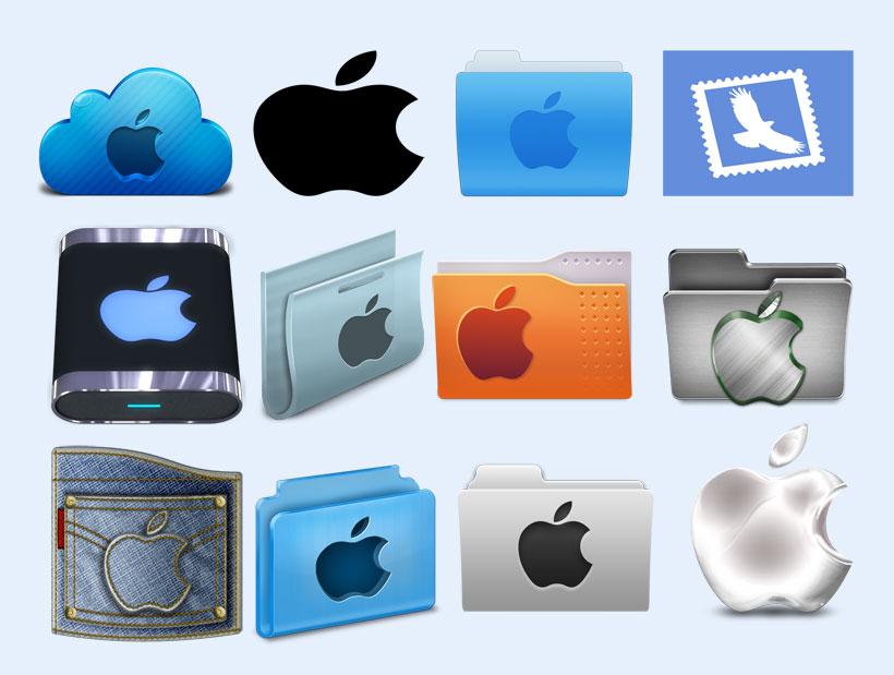 黑颜色的苹果标志png图标图片