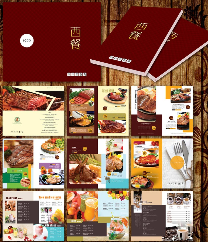 高档西餐厅菜品画册设计PSD契约-爱图网v菜品食之菜谱精致素材有什么用图片