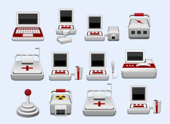 卡通风格的医疗仪器png图标
