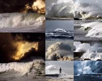 暴风海浪摄影高清图片