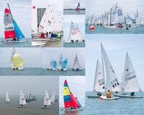 海边帆船摄影高清图片