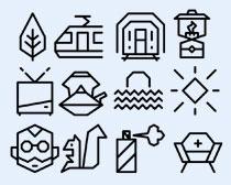 烧水壶和油灯PNG图标