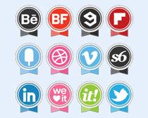 粉紅色的社交媒體PNG圖標