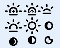 黑白半月图标PNG图标