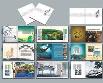 中国风旅游宣传画册设计矢量素材
