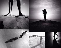 沙滩跑步的人物摄影时时彩娱乐网站