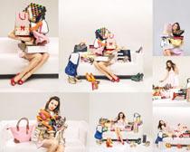 购物狂时尚女人摄影高清图片
