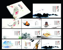 典雅企业宣传画册设计矢量素材