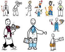 卡通职业人物绘画摄影高清图片