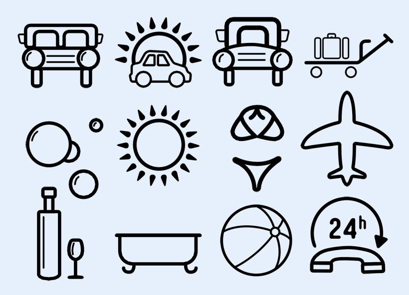爱图首页 图标素材 创意图标 汽车 飞机 太阳 香槟 篮球 温度 泳衣