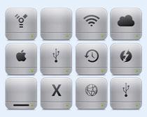 灰色的WIFI信号PNG图标