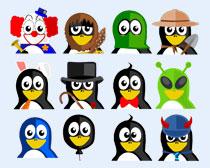 可爱的戴帽子的企鹅png图标图片