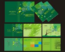 绿色企业宣传册矢量素材