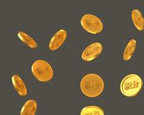 散落的金币PSD素材