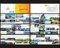 国际旅游文化宣传册设计矢量素材