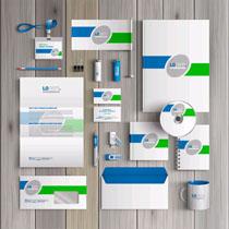 公司蓝色创意VI设计矢量素材