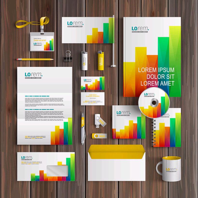 彩色企业标识矢量素材