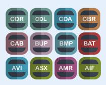 圆形CDR软件PNG图标