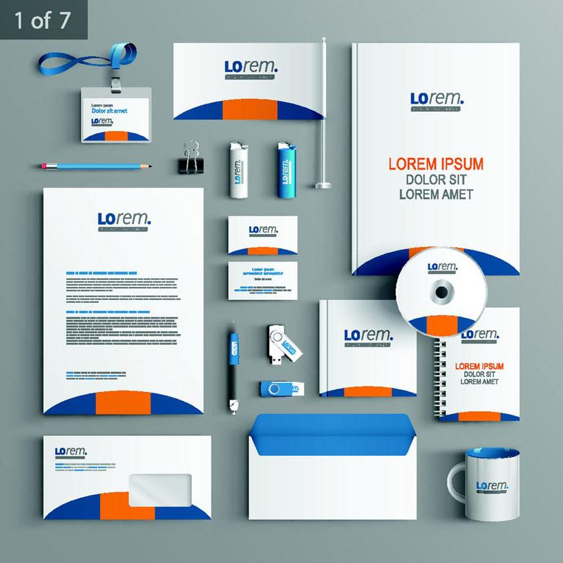 企业vi标识设计模板矢量素材