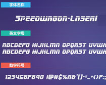 Speedwagon-LaserIt英文字体下载