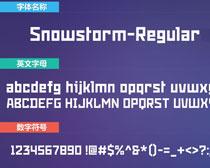 Snowstorm-Regular英文字�w下格��洛身上�d�L