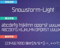 Snowstorm-Light英文字体下载