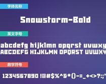 Snowstorm-Bold英文字体下载