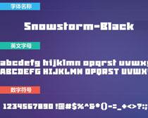 Snowstorm-Black英文字体下载