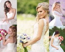 国外美丽新娘婚纱照摄影高清图片