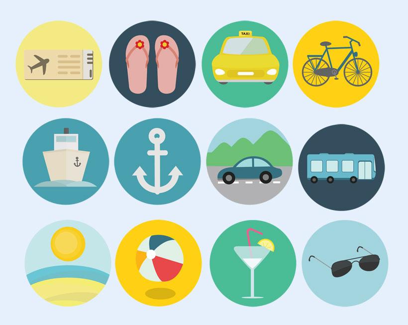 爱图首页 图标素材 创意图标 拖鞋 信用卡 飞机 餐具 汽车 地图 树木
