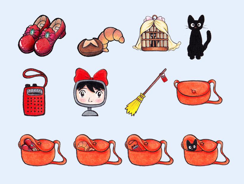 爱图首页 图标素材 卡通图标 猫咪 扫帚 手绘书包 小猫 可爱 喵星人