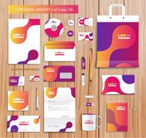 紫红色公司VI标识矢量素材