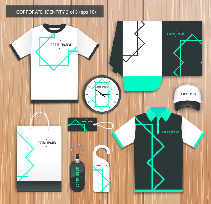 线条服装vi设计矢量素材