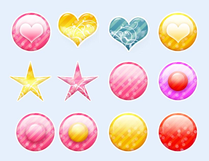 粉红色的心型图标png图标