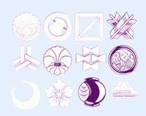 紫色透白的花朵PNG图标