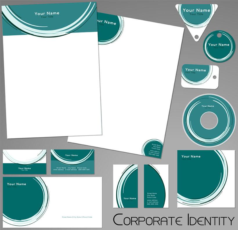 信封 旗帜 名片模板 u盘 光盘包装 vi模板 vi设计 广告设计 矢量素材