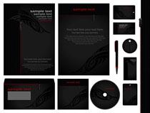 黑色风格VI标识设计矢量素材