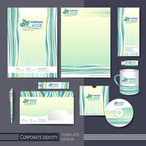 线条色彩VI标识设计矢量素材